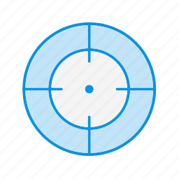 aim, bullseye, goal icon