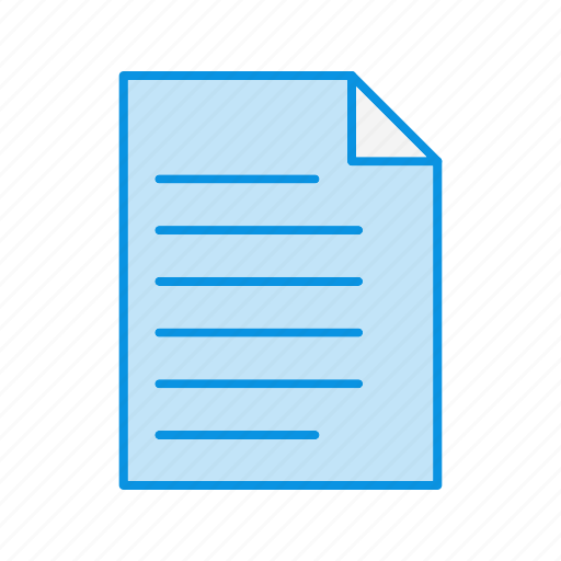 document, extension, paper icon