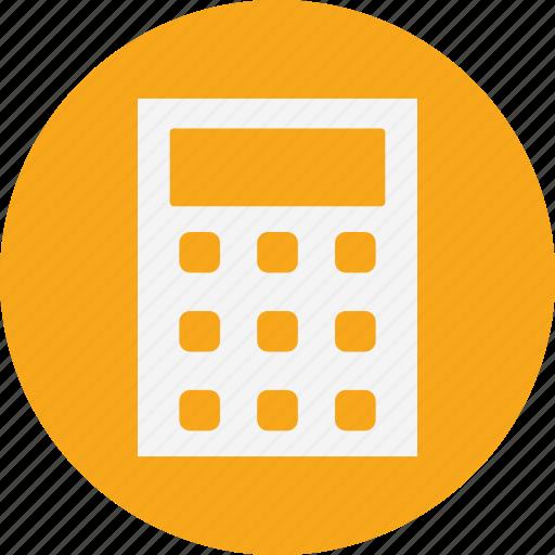 calculator, device, math icon