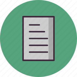 document, file, paper, sheet icon