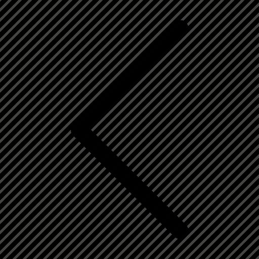 arrow, direction, interface, left, navigation, ui icon