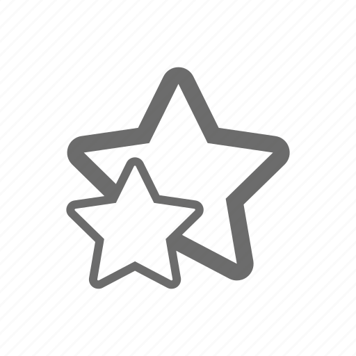 bold, general, sign, star, stroke, universal icon