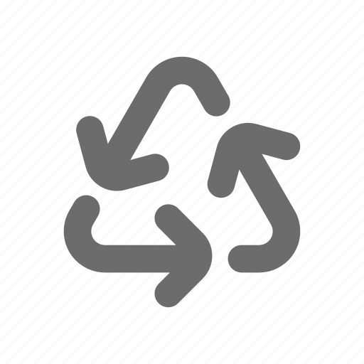 Bold, general, recycle, sign, stroke, universal icon - Download on Iconfinder