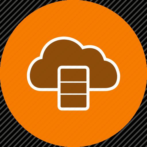 cloud, data base, server icon