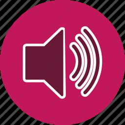 high, speaker, volume icon