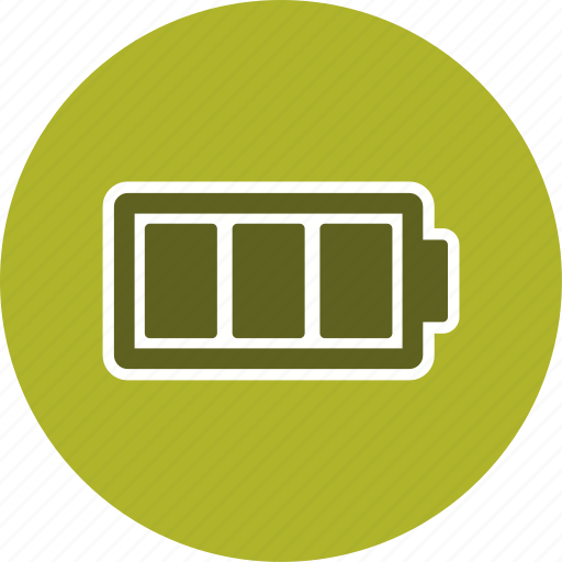 battery, charge, full icon