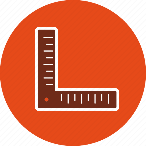 angle, measure, ruler icon