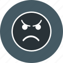 angry, emoji, face icon
