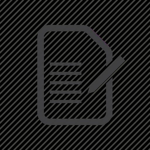 document, edit, form, write icon