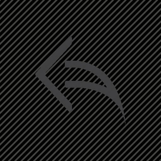 arrow, previous, reply icon