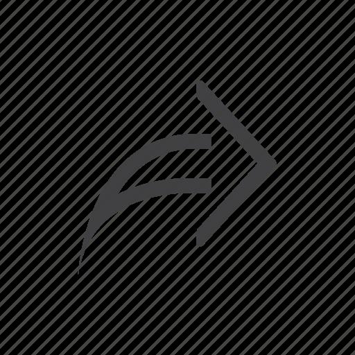 arrow, next, share icon