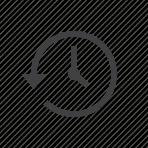 arrow, backup, clock, history, reload, restore icon