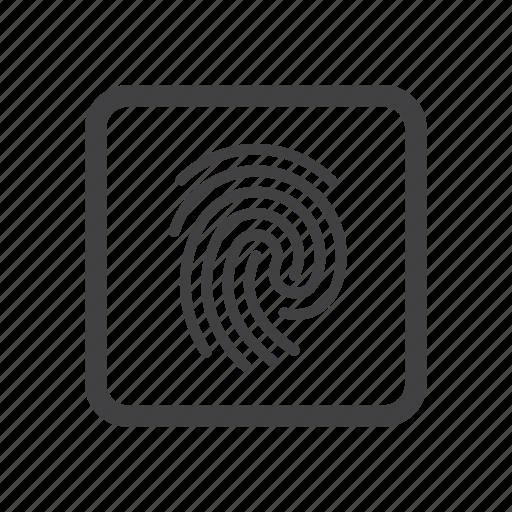 finger, fingerprint, id, identification icon