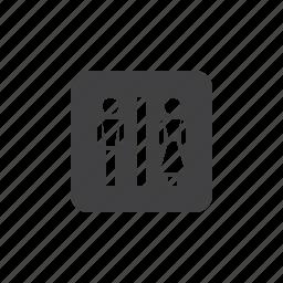 toilet, wc icon