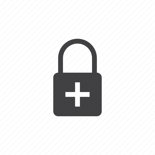 add, encryption, lock, padlock icon