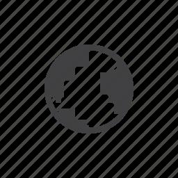 earth, globe icon