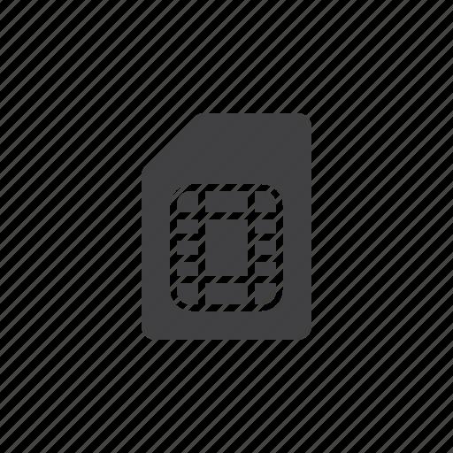 card, sim icon