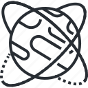community, globe, internet, line, network, thin icon