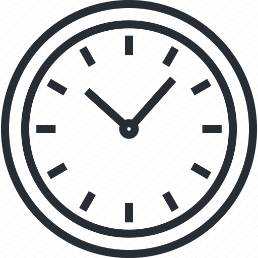 clock, dead line, line, organization, schedule, thin, time icon