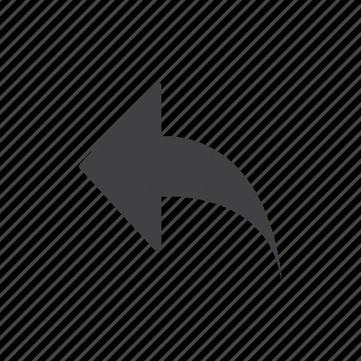 arrow, reply icon