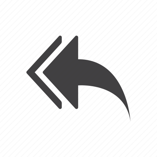 arrow, reply, to all icon