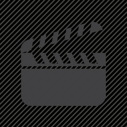 board, cinema, clapboard, clapper icon