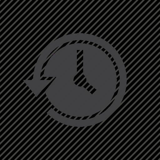 arrow, backup, history, restore, watch icon