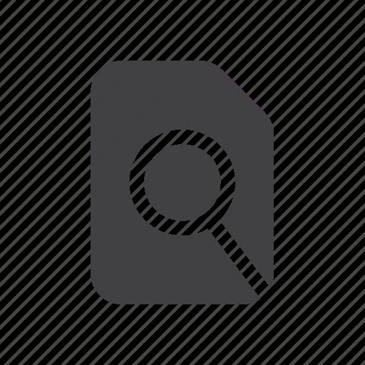 file, in, search icon