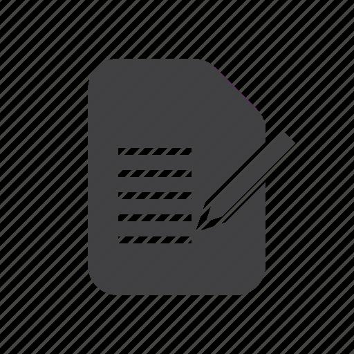 document, edit, form icon