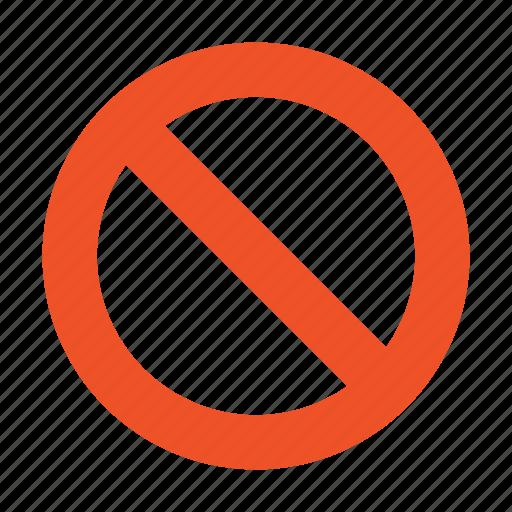 ban, block, cancel, delete, stop icon