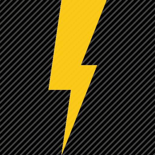 arrow, flash, lightning, thunder, weather icon