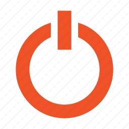 button, off, on, power, start, switch, turn icon