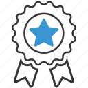 achievement, badge, ribbon, label, reward, win, winner