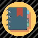 adress, book, address, folder, learning, open