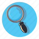 find, glass, magnifier, magnifying, search icon