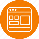 page, template, web icon