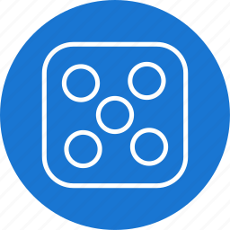 casino, dice, five icon