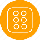 casino, dice, game, six icon