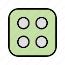 casino, dice, four, game icon