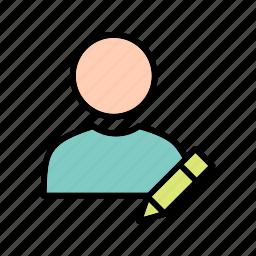 edit, profile, user icon