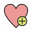 add, add to favorite, favorite, heart icon