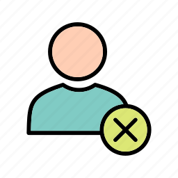 profile, remove, user icon