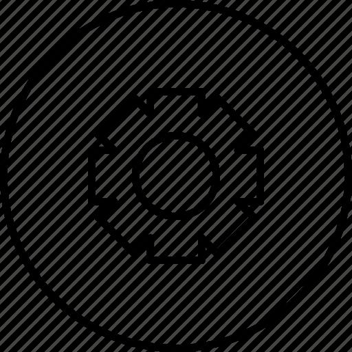 control, options, panel, settings, wheel icon