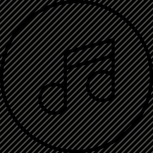 audio, media, music, note, sound icon