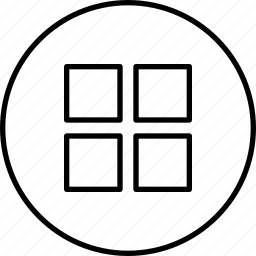 grid, menu, show, sort, view icon
