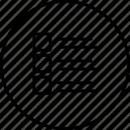 arrange, line, list, order, view icon