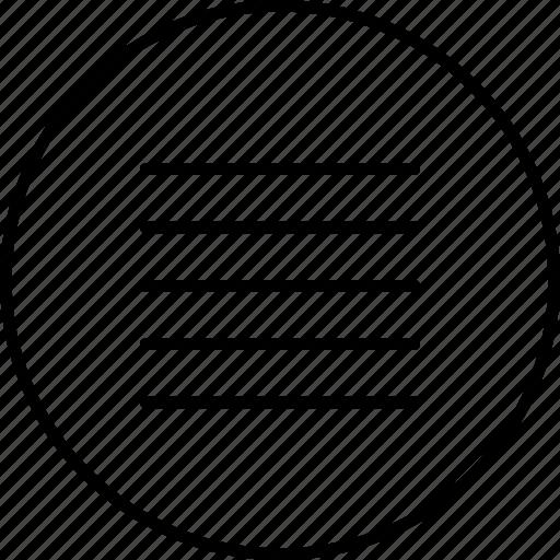hamburger, hide, lines, menu, options, settings icon
