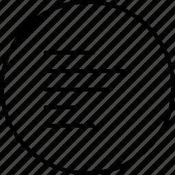 align, arrange, left, line, text icon