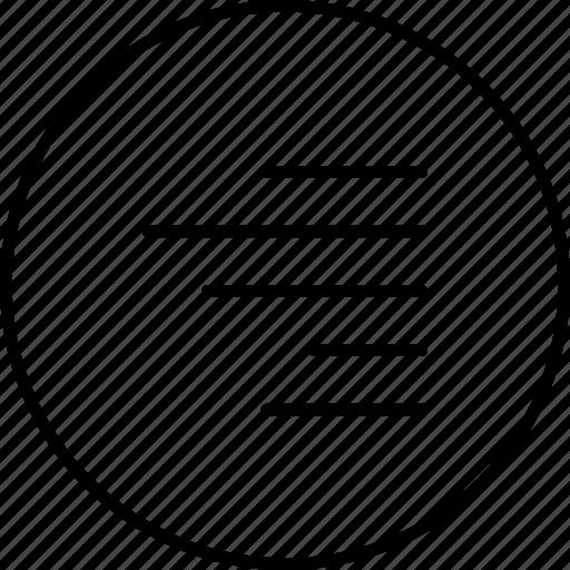 align, arrange, line, right, text icon