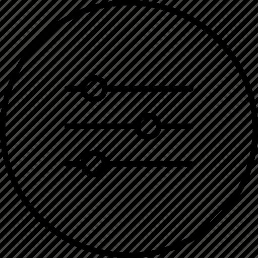 equalazer, filter, menu, option, settings icon